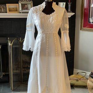 Vtg Cottage Core dress S